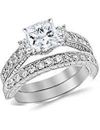 Engagement Rings And Wedding Band Sets by Womens Bridal Sets Amazon Com