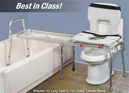 extended bath bench toilet to tub sliding transfer bench eagle 77993 extra long