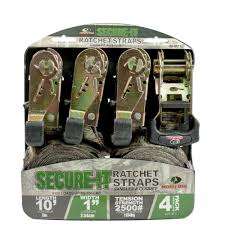 10 ft x 1 in camouflage ratchet tie down 4 pack si 2071 the
