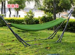 outdoor bed canvas hammock swing net thickened hanging bed stand