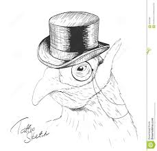 monocle and top hat sketch stock photos image 22382103