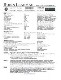 Film Resume Sample by Resume Template Examples Awesome Simple One Page Design Film