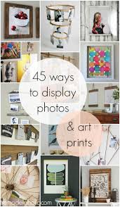 remodelaholic 50 ways to display art prints and photos 45 ways to display photos and art prints for when you re wondering what