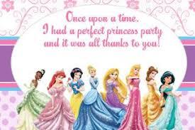 printable thank you cards princess free disney princess invitation and thank you card party