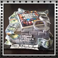 Money Cake Decorations Grand Theft Auto And Money Cake Brick Cake Made Out Of