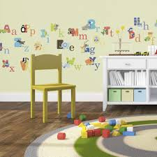 amazon com animal alphabet baby nursery peel andstick wall art