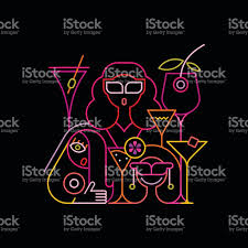 cocktail party neon sign stock vector art 639012054 istock
