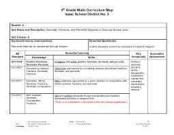 5th grade subtraction 5th grade math curriculum map 2011 2012 2