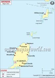 Caribbean Map With Capitals by Cities In Grenada Map Of Grenada Cities