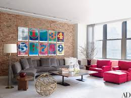 Livingroom Nyc Will Ferrell U0027s Industrial New York City Loft Features Colorful