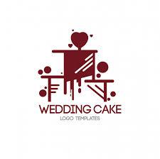 wedding cake logo cake logo template vector premium