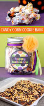 candy corn pretzel cookie bark a quick and easy halloween gift