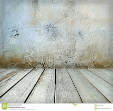 Painting On Concrete Wall by Room Interior Grey Cement Wall With Wooden Floor Stock Photo