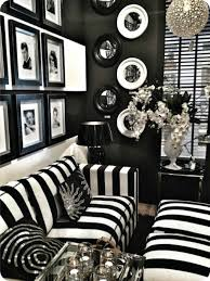 Black And White Living Room Furniture Home Design Ideas - Black living room decor