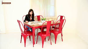 6 Seater Dining Table For Sale In Bangalore Dining Table Karlos 6 Seater Iron Dining Table Set Online In