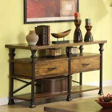 Oak Console Table With Drawers Riverside Lennox Street Sofa Console Table Hayneedle