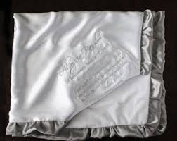 baptism blankets personalized christening blanket etsy