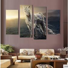 Canvas Painting For Home Decoration by Online Get Cheap White Horse Canvas Painting Aliexpress Com