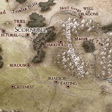 Faerun Map The Red Epic Maps By Jared Blando U2014 The Sword Coast A Campaign