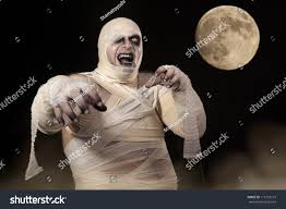 Halloween Mummy Costumes Scary Halloween Mummy Mist Young Men Stock Photo 115118779