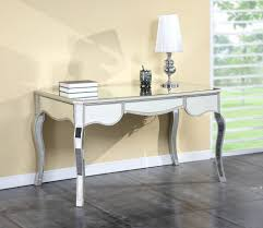 bedroom glam mirrored writing desk design