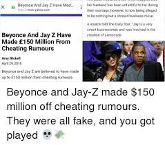 Jay Z Beyonce Meme - beyonce and jay z have mad x https wwwyahoocom beyonce and jay z
