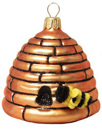 amazon com large beehive polish glass christmas tree ornament