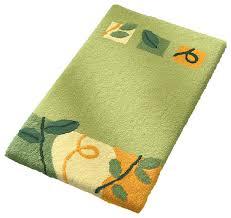 palm green bathroom rug sophisticated leaf and vine design idyll