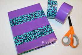 Doodlecraft How To Cover A Textbook With Duct Tape