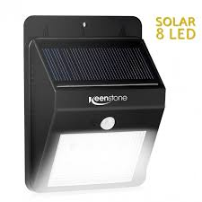 bright light solar keenstone皰 bright outdoor 8 led light solar energy powered