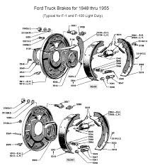 flathead parts drawings brakes