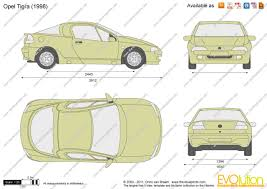 opel tigra 1997 the blueprints com vector drawing opel tigra
