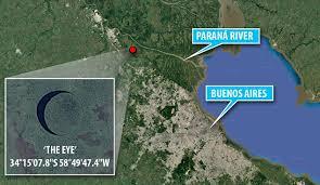 parana river map is the mysterious eye island near hiding an base