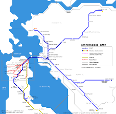Bart Sfo Map by San Francisco Bay Area Ferry Map Ver 3