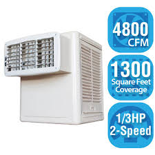 hessaire 4 800 cfm 2 speed window evaporative cooler for 1 300 sq