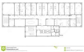 plan bureau immeuble de bureaux de plan illustration stock illustration du