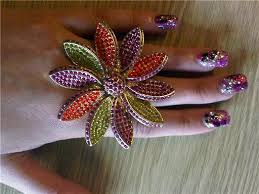2010 flower nails design my nails art