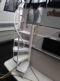diy 3207 stairs for swim deck carver yacht yachtforums we