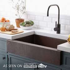 copper apron front sink paragon single basin farmhouse kitchen sink native trails