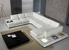 Sectional Sofa Set T35 White Bonded Leather Sectional Sofa Set With