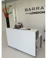Modern Desks Canada Reception Desk White City Furniture Hire Canada X Onsingularity