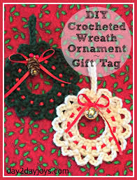 diy crocheted wreath ornament gift tag day2day joys