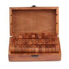 wholesale sale vintage diy number and alphabet letter wood