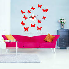 Home Decor Wholesale China Buy China Home Decor Wholesale Handmade Wall Clock Butterfly Party
