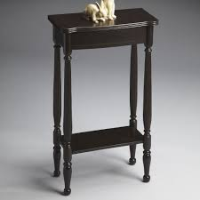 Black Console Table Small Black Console Table With Decorative Rabbit Statue On Top