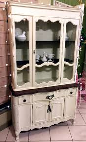 vintage french provincial china cabinet refinished with general