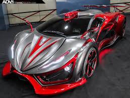 custom lamborghini inferno exotic car supercar hypercar foam adv1 custom red black