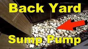 sump pump to drain backyard flood how to for homeowners youtube
