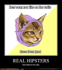 Hipster Kitty Meme - real hipsters very demotivational demotivational posters very