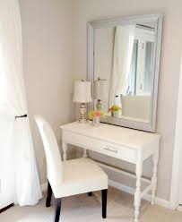 Glass Vanity Table With Mirror Bedroom Furniture Sets White Vanity Set Simple Dressing Table